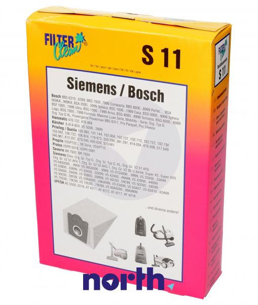 Worek do odkurzacza S11 Bosch 5szt. (+filtr) 000120NK,0