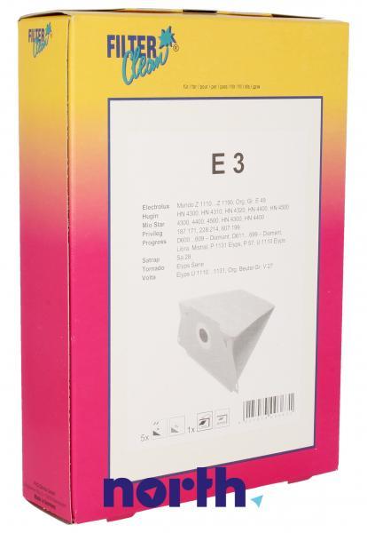 Worek E3 2 filtry do odkurzacza 5szt.,0
