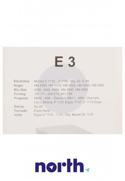 Worek E3 2 filtry do odkurzacza 5szt.,2