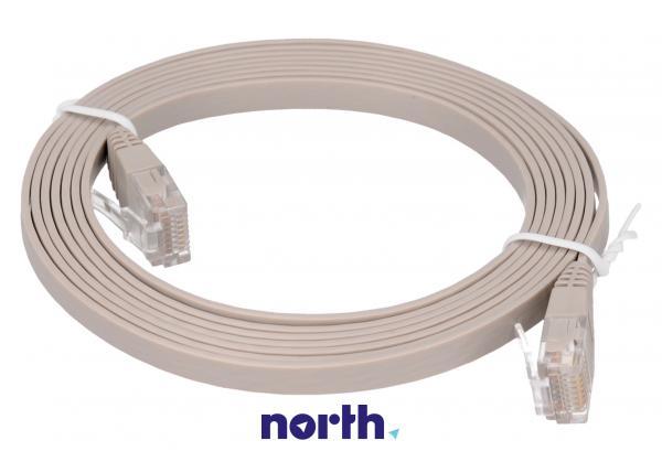 Kabel CAT-6 2m (wtyk/ wtyk) | (RJ-45/skrętka),0