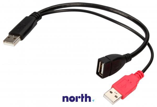 Rozgałęźnik USB A (wtyk x2/ gniazdo) 65306,0
