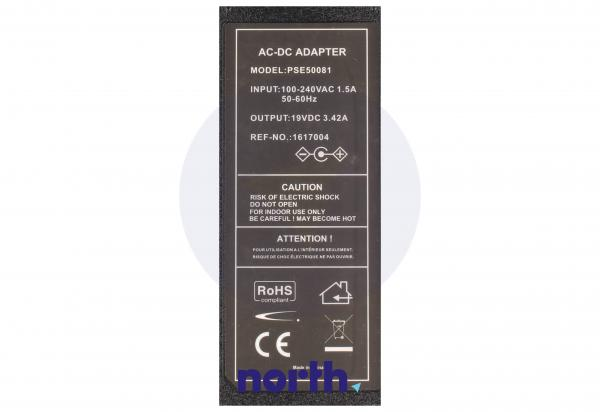 Ładowarka | Zasilacz 19V/3.42A/65W do laptopa Samsung PSE50081EU,2