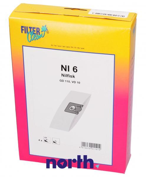 Worek NI6 do odkurzacza 4szt.,0