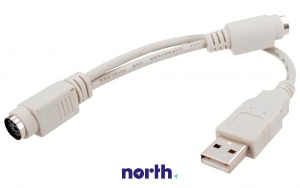 Kabel 0.2m USB A - PS2 (wtyk/ gniazdo x2) standard,0