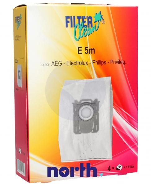 Worek E5/PH5M mikrofiltr do odkurzacza 4szt. - oryginał: FL0007K,0