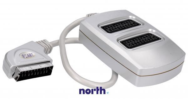 Rozgałęźnik przełącznik 50cm SCART - SCART (wtyk/ gniazdo x2) standard,0