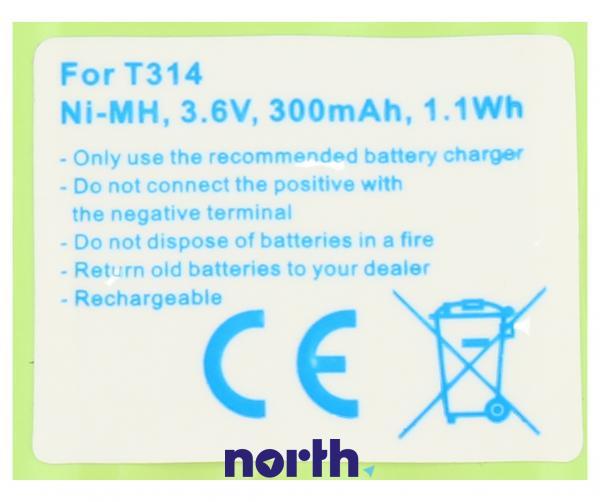 CPAA36043 Akumulator 3.6V 300mAh telefonu bezprzewodowego,3