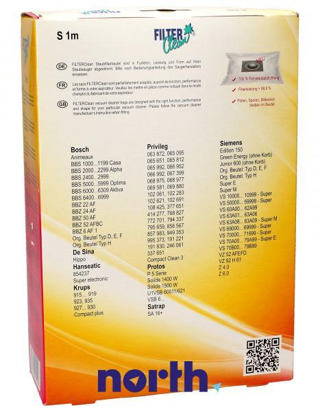 Worek do odkurzacza S1/6/11m 4szt. (+3 filtry) FL0027K,1