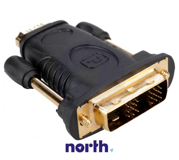 Adapter HDMI 19 pin - DVI (gniazdo/ 18+1 wtyk),0