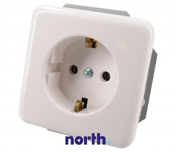 005221 gniazdo elektryczne pojedyncze podtynkowe, białe,0