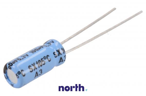 100uF | 6.3V Kondensator elektrolityczny 105°C 11mm/5mm,0