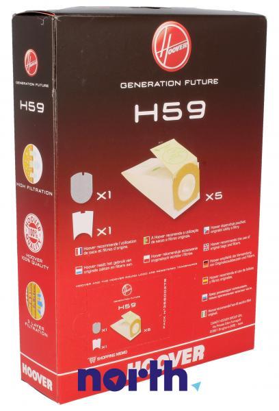 Worek do odkurzacza H59 Hoover 5szt. (+2 filtry) 35600279,1
