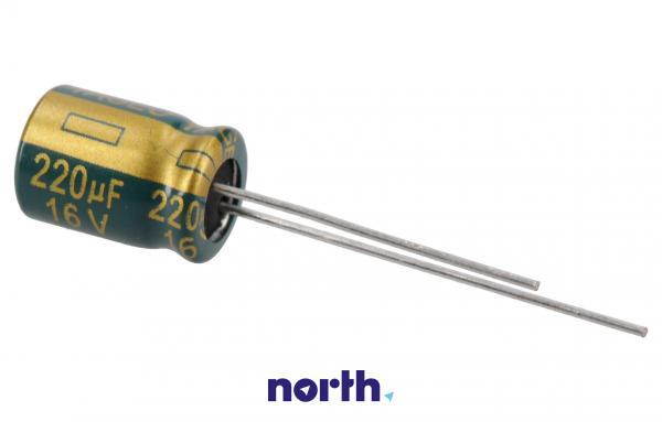 220uF   16V Kondensator elektrolityczny 105°C 11mm/8mm,0