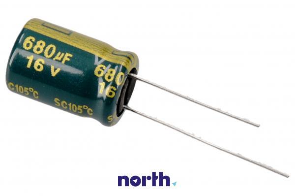 680uF | 16V Kondensator elektrolityczny 105°C 15mm/10mm,0