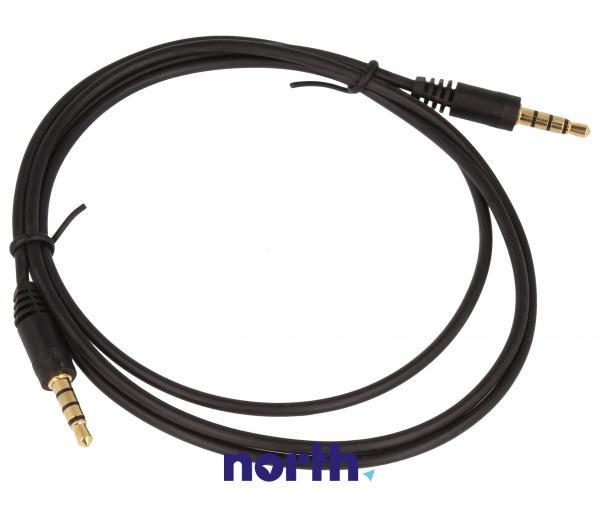 Kabel 1m JACK 3.5mm 4 pin - JACK (wtyk/3.5mm 4 pin wtyk) standard,0