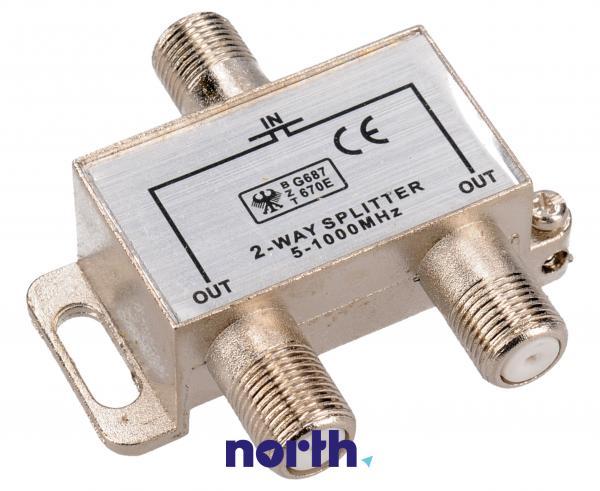 Rozgałęźnik antenowy COAX - COAX (wtyk/ gniazdo x2),0