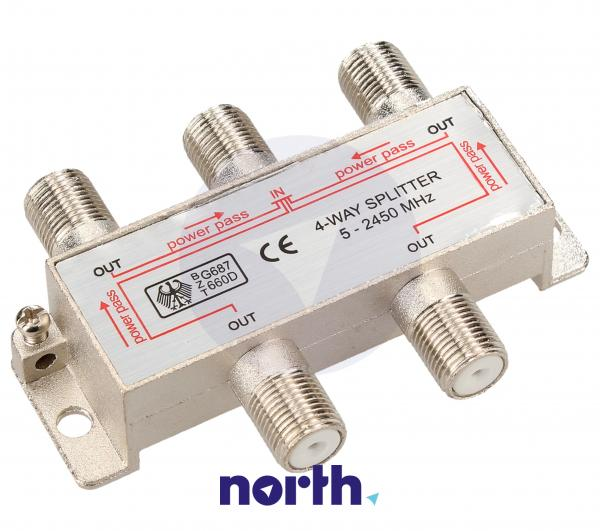 Rozgałęźnik antenowy F (gniazdo/ gniazdo x4),1