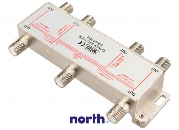 Rozgałęźnik antenowy F - F (gniazdo/ gniazdo x6),1