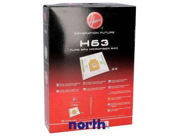 Worek H63 do odkurzacza 4szt. - oryginał: 35600536,1