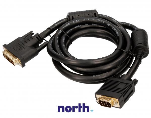 Kabel 1.8m VGA - DVI (wtyk/ 18+5 wtyk),0