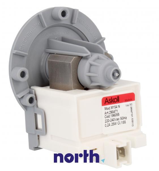 Pompa odpływowa kompletna (196055) do pralki,0