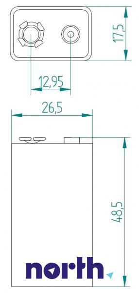 6F22 | 6LR61 | Bateria alkaliczna 9V 565mAh Varta (1szt.),1