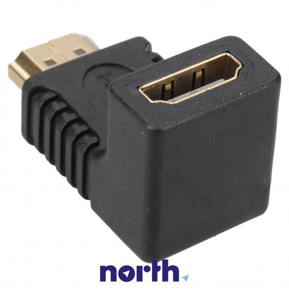 Adapter HDMI (gniazdo/wtyk) - kątowy,1