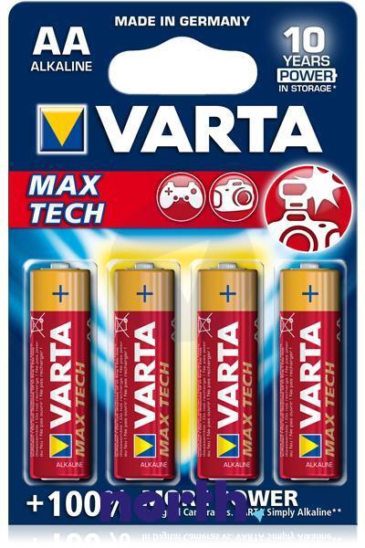 R6 | LR6 | Bateria AA (Max Tech) 1.5V Varta (4szt.),1