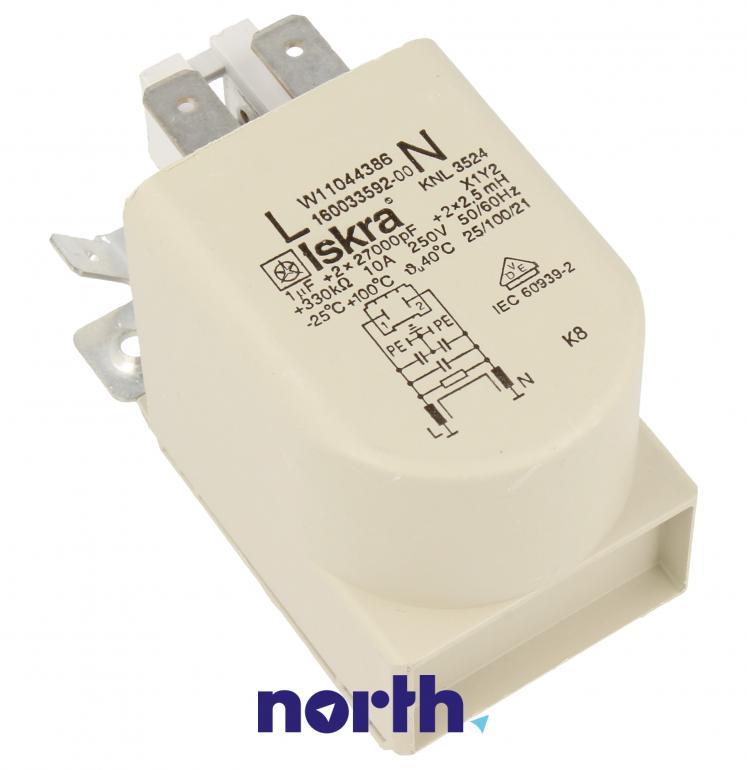 Kondensator rozruchowy do pompy myjącej do zmywarki Whirlpool 488000514073,0