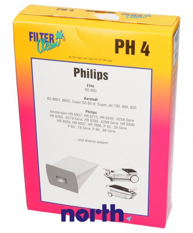 Worki PH4 6szt. do odkurzacza Philips,0