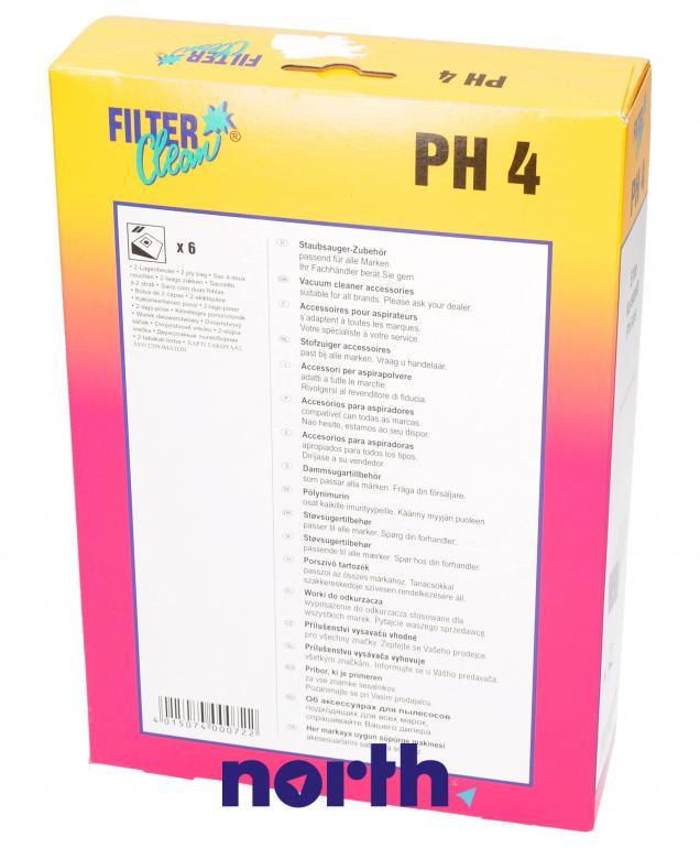 Worki PH4 6szt. do odkurzacza Philips,1