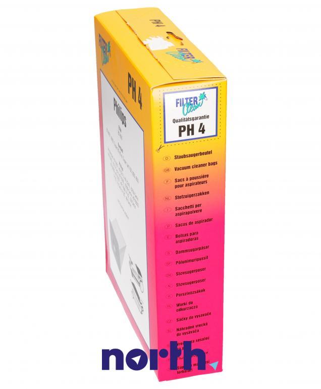Worki PH4 6szt. do odkurzacza Philips,2