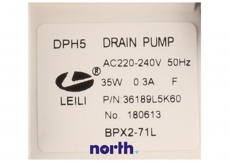 Pompa odpływowa kompletna (silnik + obudowa) 49115 do pralki Daewoo,3