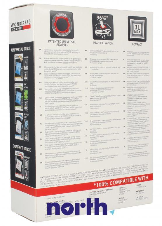 Worki uniwersalne Compact WB305140 5szt. do odkurzacza GROUPE SEB,1