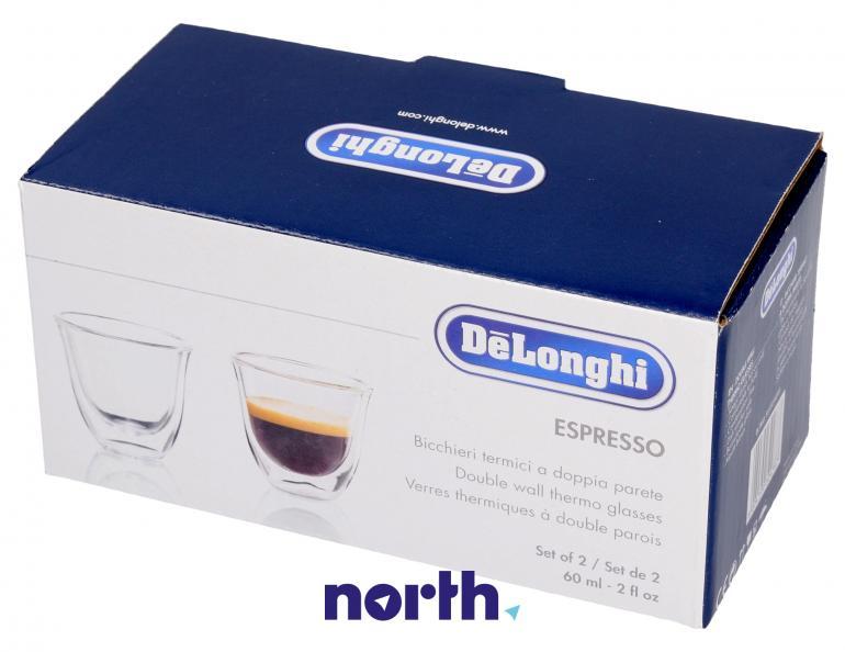 Szklanki termiczne do kawy 60ml Espresso DeLonghi 5513214591,2