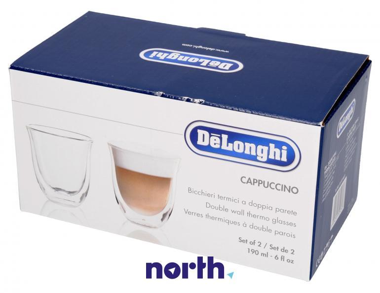 Szklanki termiczne do kawy 190ml Cappuccino DeLonghi 5513214601,2