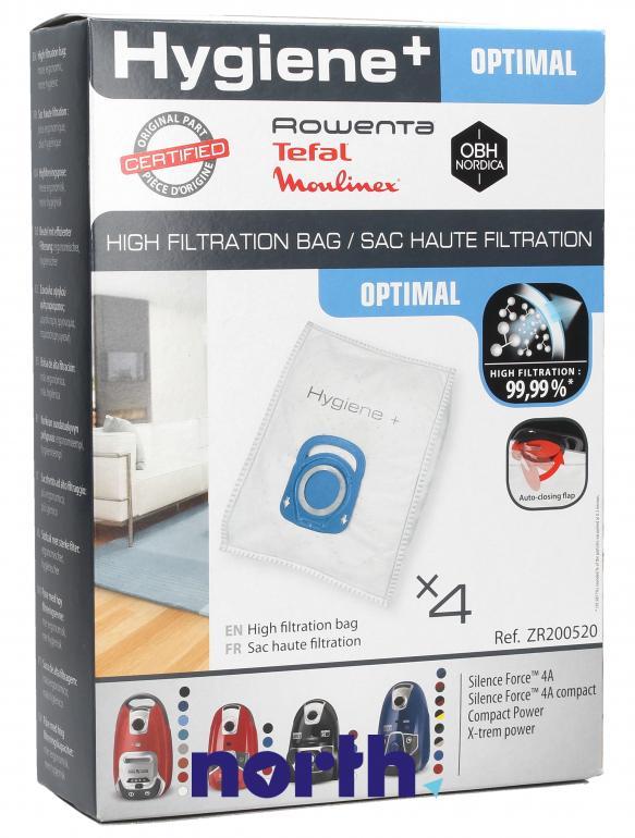 Worki Hygiene+ Optimal ZR200520 4szt. do odkurzacza Rowenta,0