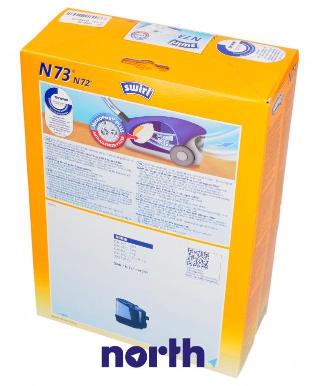 Worki N72 N73 4szt. do odkurzacza Nilfisk,1
