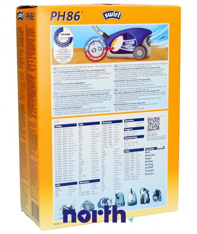 Worki Anti-Allergy PH86 4szt. do odkurzacza Philips,1