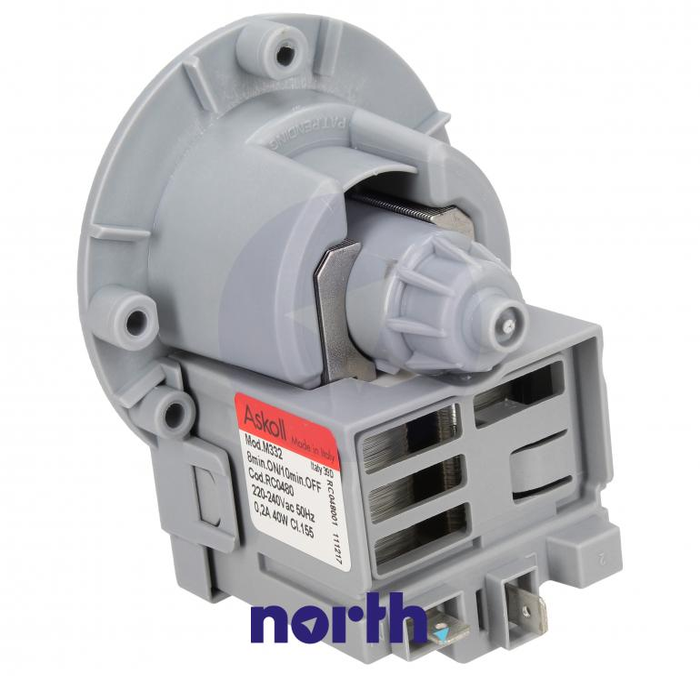 Silnik pompy odpływowej do pralki Samsung RC0480,1