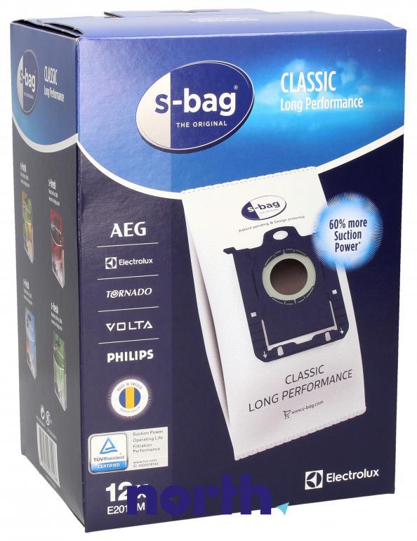 Worki S-Bag Classic Long Performance E201SM 12szt. do odkurzacza Electrolux,0
