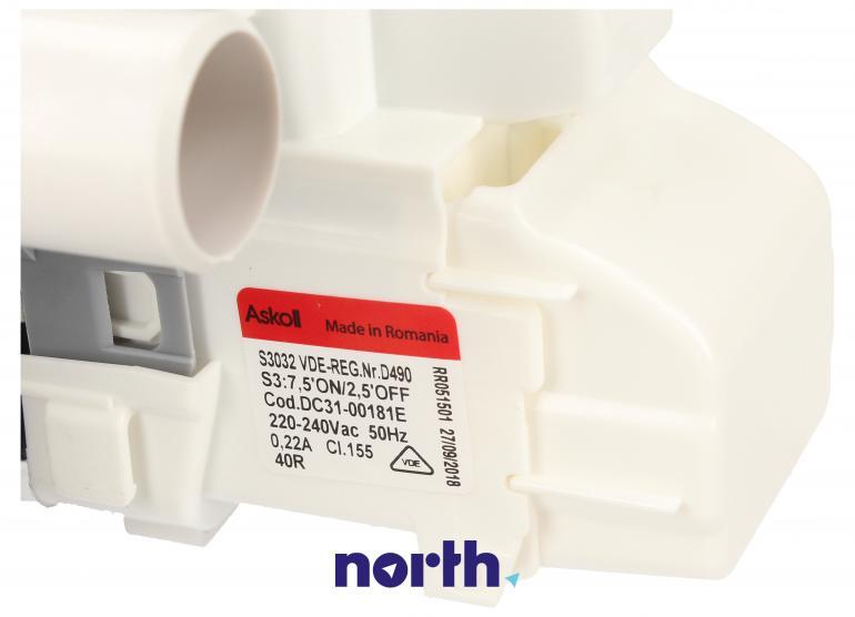 Pompa odpływowa kompletna (silnik + obudowa) do pralki Samsung DC97-17336C,3