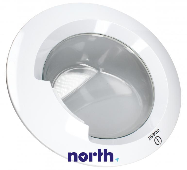 Drzwi kompletne bez zawiasu do pralki Indesit 488000480486,0