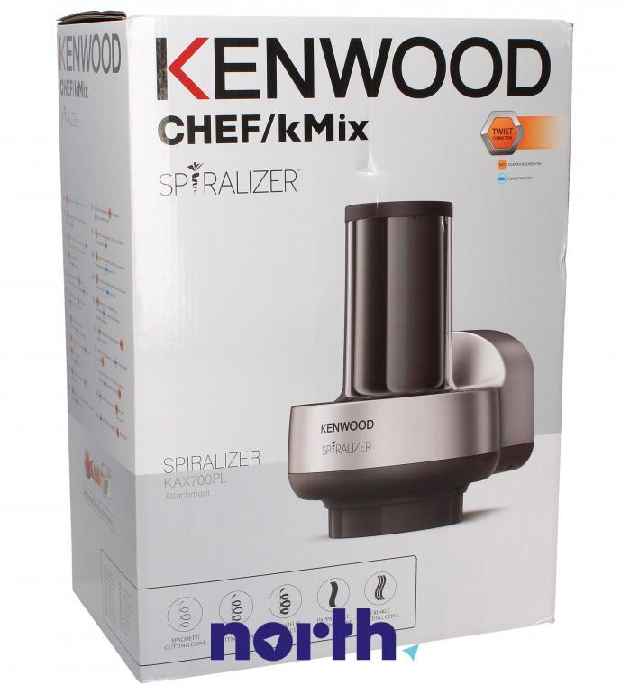Spiralizer do warzywnego spaghetti, wstążek i tagliatelle do robota kuchennego Kenwood KAX700PL AW20010015,0
