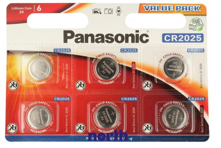 Baterie guzikowe 6szt. CR2025L6BP,0