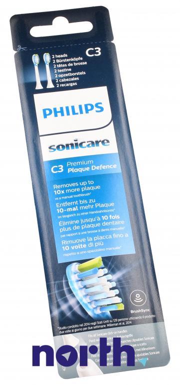 Końcówki Sonicare (2szt.) Premium Plaque Control do szczoteczki do zębów HX9042/17,4