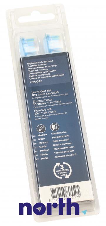 Końcówki Sonicare (2szt.) Premium Plaque Control do szczoteczki do zębów HX9042/17,5