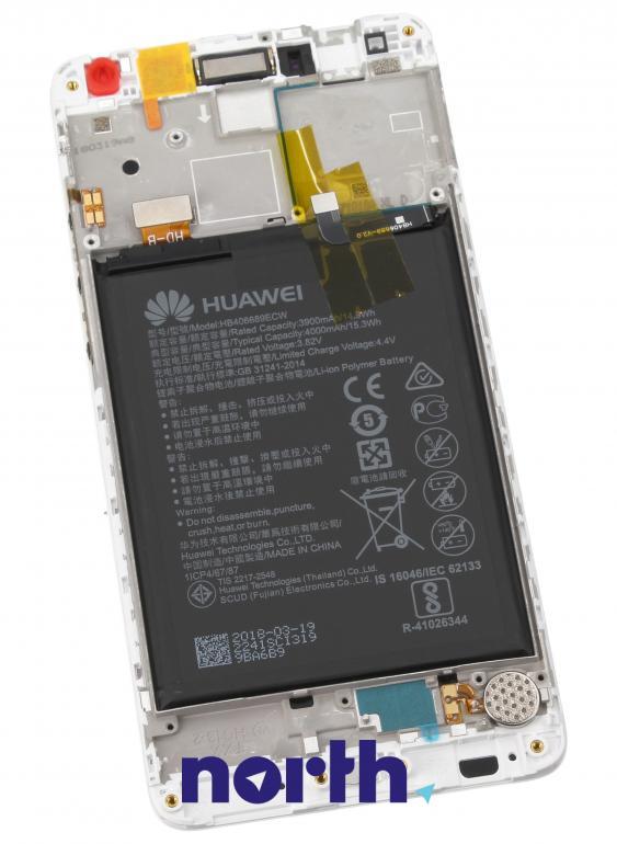 Panel dotykowy z wyświetlaczem, obudową i baterią do smartfona Huawei 02351GJV,1