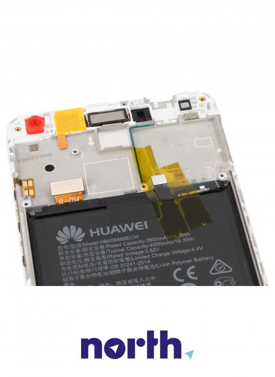 Panel dotykowy z wyświetlaczem, obudową i baterią do smartfona Huawei 02351GJV,3