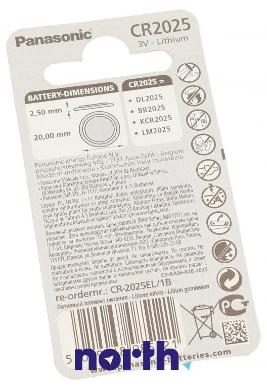 Bateria litowa CR2025 Panasonic,1